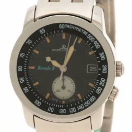 Baume&Mercier Black Stainless Steel Formula 1 Men's Wristwatch 33MM 112716