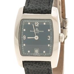 Baume&Mercier Black Stainless Steel Leather Women's Wristwatch 24MM 112711