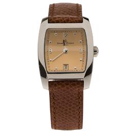 Baume&Mercier Cream Stainless Steel Classic Women's Wristwatch 24MM 66262