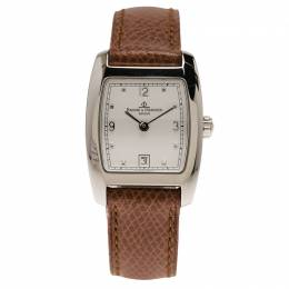 Baume&Mercier White Stainless Steel Classic Women's Wristwatch 24MM 66264