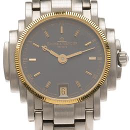 Baume&Mercier Blue Stainless Steel Riviera Women's Wristwatch 26MM 65899