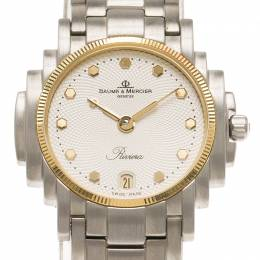 Baume&Mercier White Stainless Steel Riviera Women's Wristwatch 26MM 65896