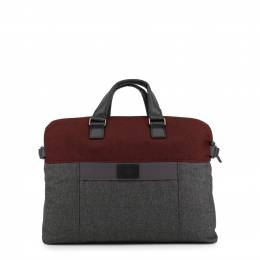 Piquadro Two Tone Fabric and Leather Briefcase 167791