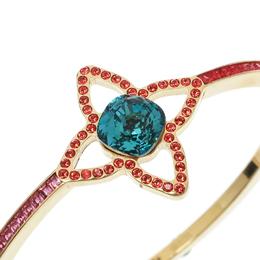 Louis Vuitton Multicolor Crystal Fleur Gold Tone Bangle Bracelet 176725