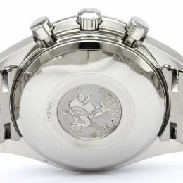 Omega Black Stainless Steel Speedmaster Men's Wristwatch 39MM 184369