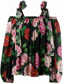 Dolce & Gabbana - блузка с цветочным принтом G6THS963956689050000