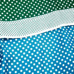 Dior Green and White Polka Dotted Silk Square Scarf 199699