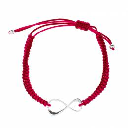Montblanc Infiniment Vôtre UNICEF Silver Red Cord Bracelet 205337