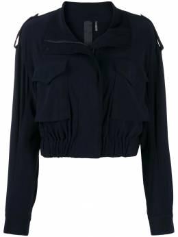 Norma Kamali укороченная куртка на молнии KK2294PL018012