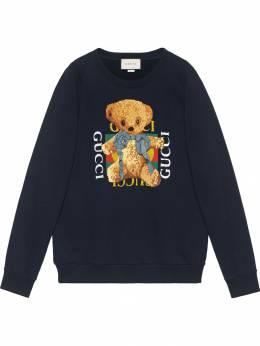 Gucci - толстовка с логотипом 'Gucci' и плюшевым медведем 633X9N93906660360000