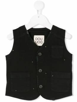 Douuod Kids - жилет с мелкими вышитыми цветами 69890869668000000000