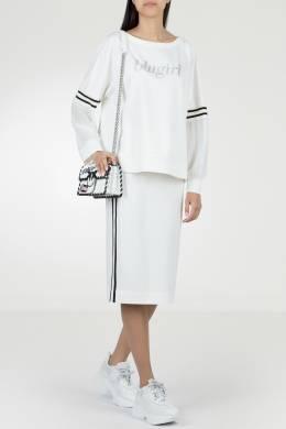 Белая юбка с полосками и разрезом Blugirl 1916144409