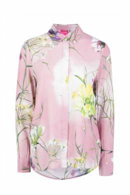 Розовая рубашка из вискозы Blumarine 533144411