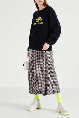 Неоново-желтые носки с черным логотипом Balenciaga 397143994