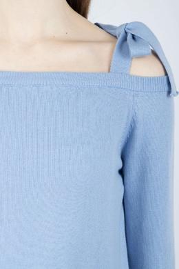 Голубой джемпер с прорезями Blugirl 1916144446