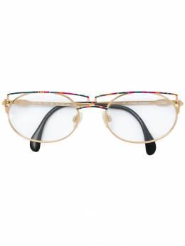 Cazal очки-авиаторы с контрастным дизайном 260
