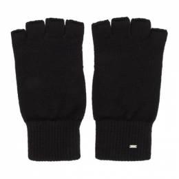 Saint Laurent Black Wool Fingerless Gloves 192418M13500102GB