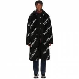 Balenciaga Black Faux-Fur Big Fit Car Coat 192342M17600502GB