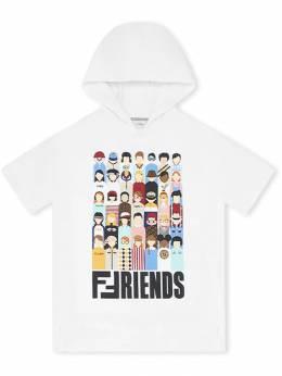 Fendi Kids - платье с капюшоном и принтом 0565V693586633000000
