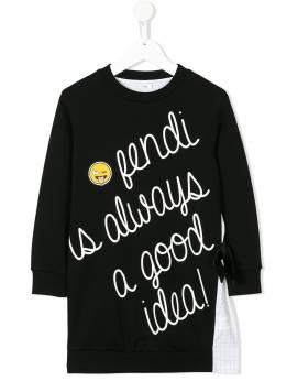 Fendi Kids - платье 'Fendi is always a good idea!' 9855V693699556000000