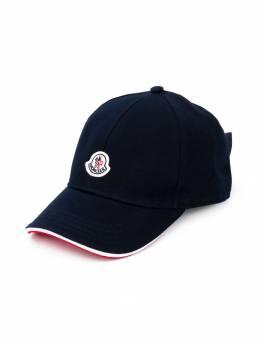 Moncler Kids - бейсбольная кепка с нашивкой-логотипом 80656586393665058000