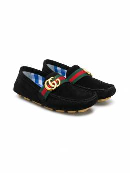 Gucci Kids лоферы 'GG' с отделкой web 501039CEN20