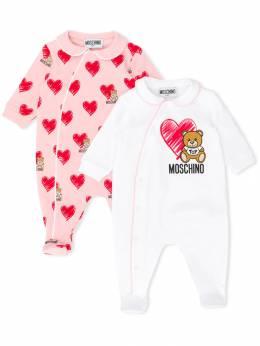 Moschino Kids комбинезон для новорожденного с логотипом MUY02ELDB16