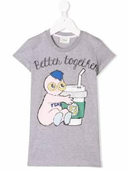 Fendi Kids - Better Together T-shirt dress 9983AJ93009098000000