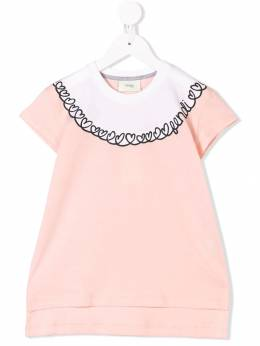 Fendi Kids - футболка с логотипом 9083AJ93369988000000