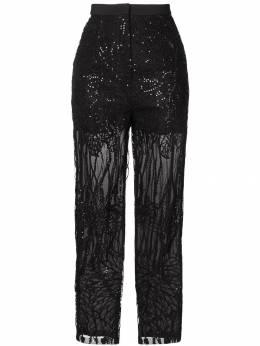 Elie Saab - брюки с вышивкой пайетками 69095685300000000000