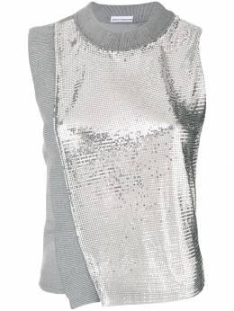 Paco Rabanne metallic mesh tank 18AJTO501VI000306109