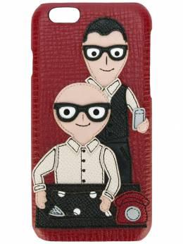 Dolce&Gabbana - чехол для iPhone 6 с заплаткой в виде дизайнеров 953AB336995505630000