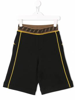 Fendi Kids - шорты с эластичной талией 9695V693555853000000