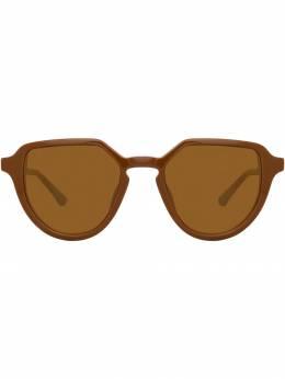 Linda Farrow солнцезащитные очки в овальной оправе DVN184C5SUN