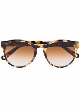 Chloe Eyewear солнцезащитные очки Havana черепаховой расцветки CE753S