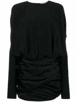 Saint Laurent - платье мини с драпировкой 553Y905W900936630000