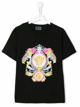 Young Versace футболка с логотипом YC000119YA00079YA008