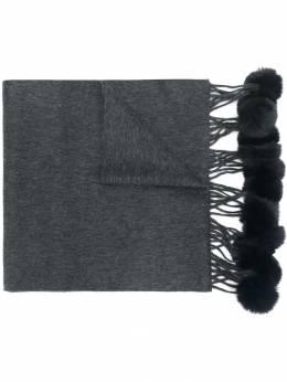 N.peal шарф с меховыми помпонами NPA107AF