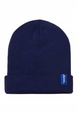 Синяя шапка с вышивкой Off-White 2202144049