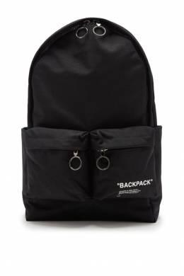 Черный рюкзак с карманами Off-White 2202144038