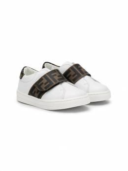 Fendi Kids - кроссовки с ремешком и логотипом FF 093A3N5F6C9A95083993