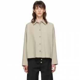 Mm6 Maison Margiela Beige Boxy Shirt 192188F10901502GB