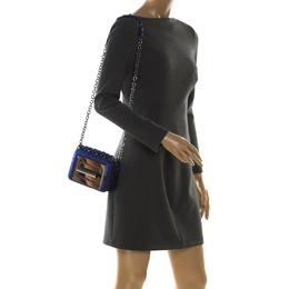 Tom Ford Electric Blue Python Mini Natalia Crossbody Bag 212355
