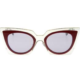 Fendi Light Blue/Red 0117/S Cat Eye Sunglasses 209664