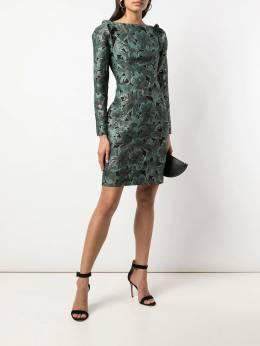 Zac Zac Posen - платье облегающего кроя с цветочным узором 35595389503096300000