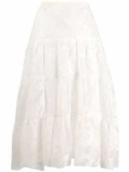 See By Chloé - ярусная юбка с цветочным принтом 99AJU996399563353900