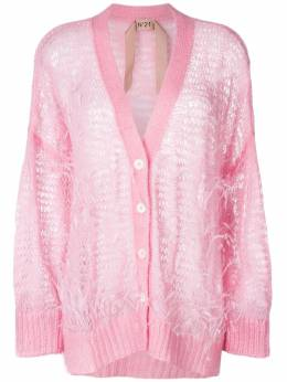 Nº21 - oversize open-knit feather cardigan A6333966903503650000