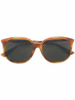Gucci Eyewear круглые солнцезащитные очки с эффектом черепашьего панциря GG0261SA