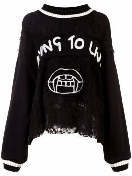 Haculla Dying to live patch sweater HAW08AHK06