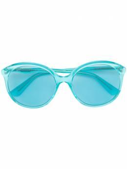 Gucci Eyewear солнцезащитные очки в круглой оправе GG0257S